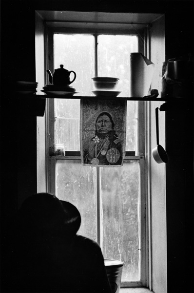 Kitchen window of mansion, El Rito