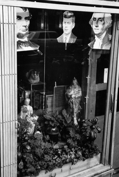 Mafia storefront window, Little Italy
