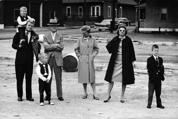 Spectators at a Fire; Mpls; 1962