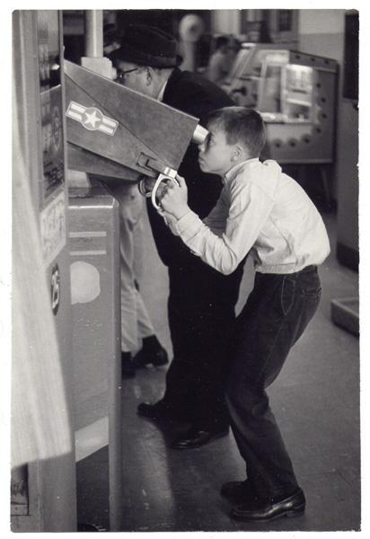 Boy in arcade